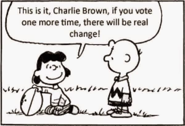 charlie brown votes again